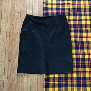 Badgley Mischka Black Silky Mini Skirt Seamless